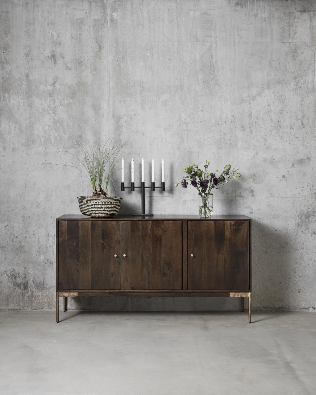 kerzenst nder metall schwarz 29x38 cm nordal. Black Bedroom Furniture Sets. Home Design Ideas